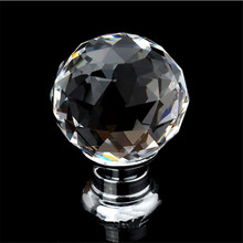 30mm kitchen cabinet meuble cuisine kitchen cabinet Diamond Shape Crystal Cabinet Knob Cupboard Drawer Pull Handle1.28(China)