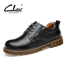 CLAX Men Ankle Boots 2017 Autumn Casual Shoes for Male Leather Work Shoe Safety British Style Oxford Fashion Footwear(China)