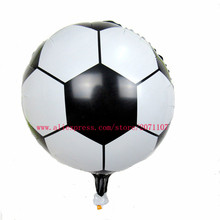 Lucky 30pcs/lot 45*45cm Football Balloon Children's Toys Wholesale Wedding Party Decoration Foil Air Balloons For Baby Gift