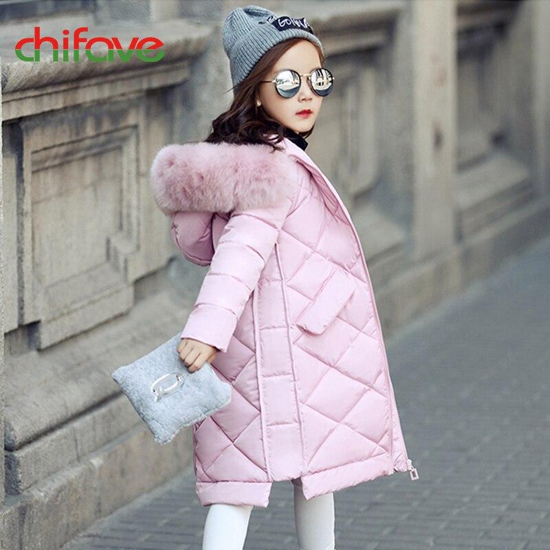 chifave 2017 Baby Girls Boys Winter Coats Long New Children Girls Coat Boys Jacket Hooded Fur Collar Warm Parka Solid FashionÎäåæäà è àêñåññóàðû<br><br>