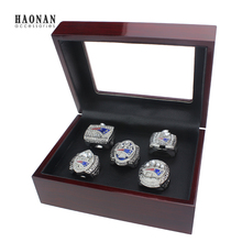 Replica Super Bowl Wholes 5PCS Ring set 2001 2003 2004 2014 2017 New England Patriots Championship Ring as christmas gift(China)