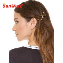 Garment 1Pcs Women Infinity Gold Barrette Hairpin Hair Clip Hair accessories Headband Perfect Gift  for lady
