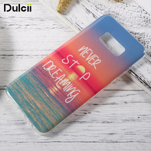 DULCII for Samsung Galaxy S 8 Patterned IMD TPU Mobile Casing Case for Samsung Galaxy S8 5.8 inch Mobile Phone Fundas Cover(China)