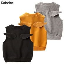 Buy Kobeinc 2017 New Vest Girls Boys Spring Autumn Solid Children Tops Casual Cute Baby Clothes Roupas Infantil 90-130CM for $9.71 in AliExpress store
