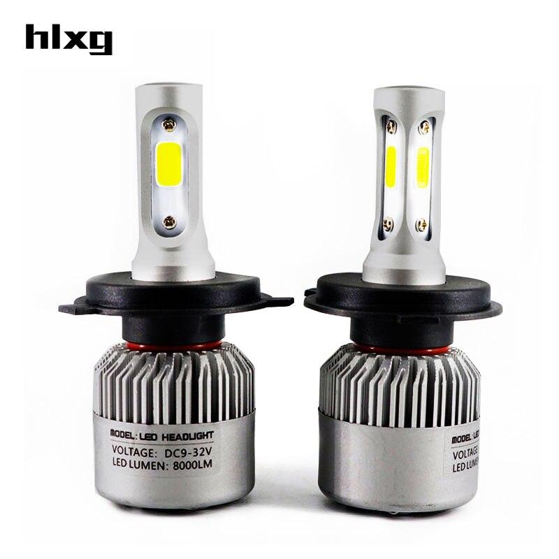 hlxg All in one 72w/set H4 Car Headlight Kit High Low Beam COB Chip External Light 12V 24V For HYUNDAI AUDI TOYOTA SKODA PEUGEOT<br><br>Aliexpress