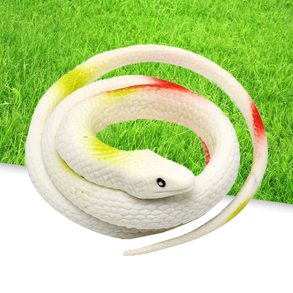 75cm Soft Artificial Rubber Snake Play Toy Party Trick Simulation Festival Decor