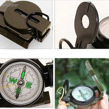 Lensatic Compass Camping Hiking Army Style Survival Marching Metal Pocket Military Camping Sighting 3 in 1 Pointer Guide Metal
