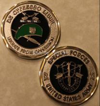 24k gold plated united states of Ameircan Army Special Forces Green Beret Challenge Coin 1pcs/lot Sample order free shipping(China)