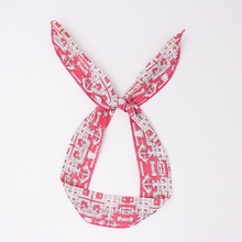 News Bunny Rabbit Ears Cotton Wrap Bow Bowknot Sweet Clan wind Pattern Hair Band Headband Wire Bendy Headdress Accessories(China)