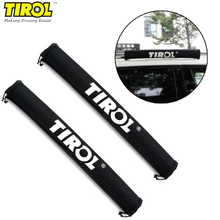 TIROL Universal Car Roof Rack Box Pads Inflatable Padded Crossbar Roof Cover Luggage Carrier Protective Car Rack(China)