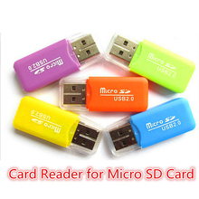 high quality Mini USB 2.0 Card Reader for Micro SD Card TF card Adapter Plug and play colourful choose from