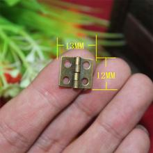 12*13MM 100pcs Packing hardware accessories wooden jewelry box hanges cabinet antique furniture hinges herrajes para muebles