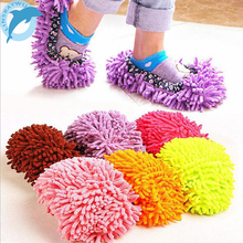 2PCS Dust Cleaner Grazing Slippers House Bathroom Floor Cleaning Mop Cleaner Slipper Lazy Shoes Cover Microfiber LINSBAYWU(China)