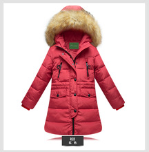 Autumn/winter New Children's Down Cotton-padded Clothes Long Cotton-padded Clothes Manufacturers Selling Girls Coat