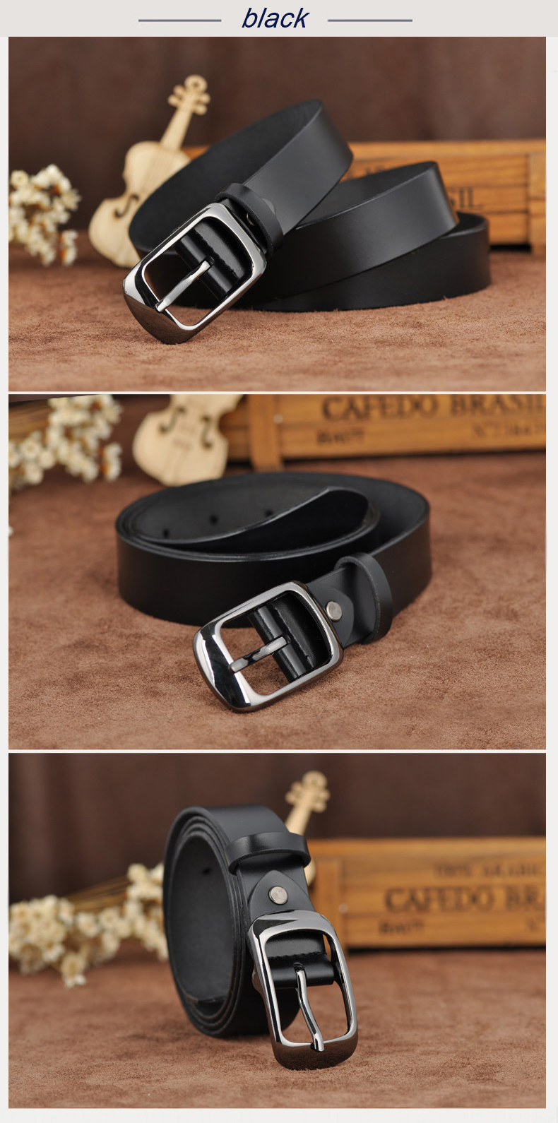 Free shipping Love strap Women genuine leather fashion all-match belt women's cowhide casual pants belt 7