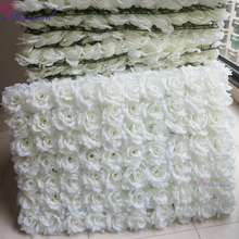 2pcs Silk Flower Wall Wedding Event or Festival Artificial Rose Flower Panel For Outdoor Stage Decor Supplies Flori(China)