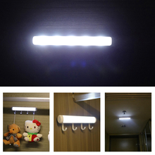 Motion Sensor Night Light Potable LED Closet Lights Wall Lamp Battery Powered Wireless Cabinet Leds Lamp With Magnetic Strip(China)