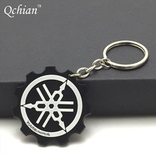 1 Piece!!! Hot Sales Top Quality YAMAHA Motorcycle Accessories Rubber Stainless Steel Key Ring Keychains