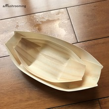 2000x Disposable Brown Paper Kraft Food Tray Food Boat Meal Tray