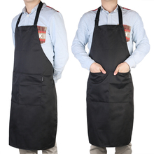 Unisex Solid Cooking Kitchen Cleaning Aprons Adjustable Sleeveless Cooking Work Aprons Kitchen Schort Chef Apron With Pocket