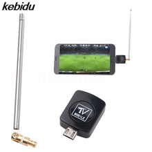 kebidu Mini Micro USB tuner TV receiver Dongle/Antenna for DVB HD Digital Mobile TV HDTV Satellite Receiver for Android Phone(China)
