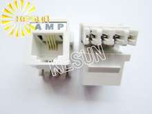 FREE SHIPPING 10PCS x RJ11 Phone Modular Jack Female Telephone Socket LAN Connector