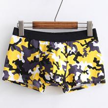 Buy New Arrival Mens Sexy Underwear Shorts Print Underpants Pouch Soft Cotton Briefs Panties Breathable Men's Briefs Charming Cuecas