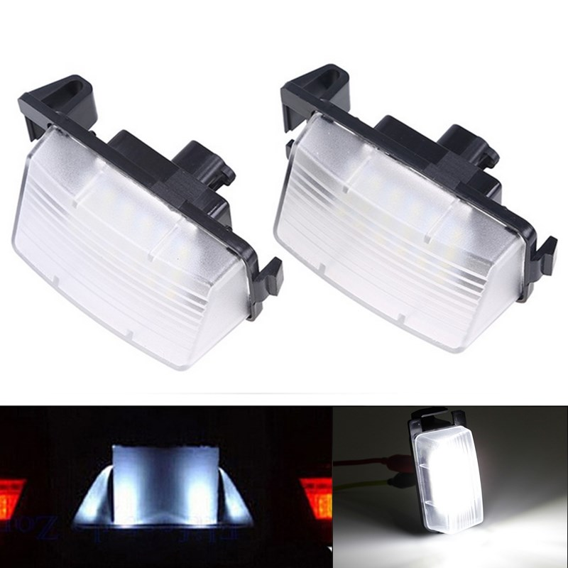 2Pcs Error Free 18 3528 SMD LED License Number Plate Light Lamps fit for INFINITI Nissan Skyline V36 G35 G37 350Z<br><br>Aliexpress