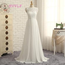 Buy Vestido De Noiva 2017 Beach Wedding Dresses A-line Cap Sleeves Chiffon Lace Vintage Wedding Gown Bridal Dresses HVVLF for $67.34 in AliExpress store