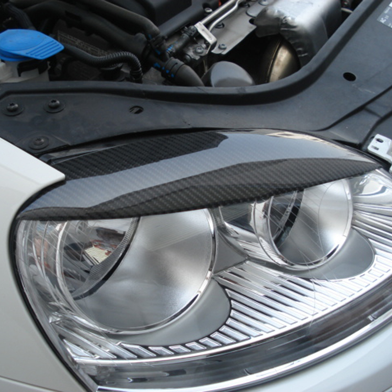 Golf 5 Carbon Fiber Car Headlight Eyebrows Cover Trim Sticker for Volkswagen VW MK5 2005-2007 Free shipping<br>