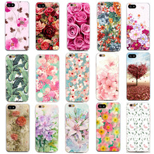 Phone Bags For Apple iphone 4 4S 5 5S SE 6 6S Case Soft TPU Thin Slim Shell Daisy Flower Pattern Phone Cases