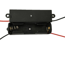 battery holder/ battery cell/battery case 1X AA 1.5V with 15cm black&red wire 1 screw hole of each direction ,50pcs/lot(China)