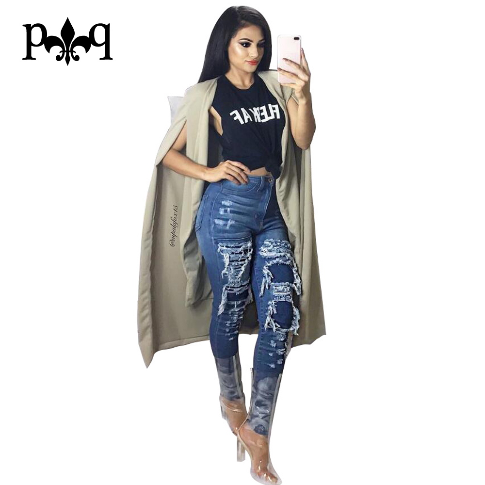 Skinny Ripped Jeans For Women Autumn Winter Mid Waist Blue Denim Vintage Jeans Women Long Pencil Pants Femme Casual TrousersОдежда и ак�е��уары<br><br><br>Aliexpress