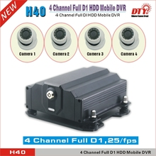 CE FCC ROHS Hard disk 4 channel Mobile DVR car recorder with GPS 3G  support 4TB + 256GB storage,H40-3G