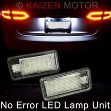 2pcs white Error Free Led License Plate Light For Audi A3/S3 A3 Cabriolet A4 S4 B6 B7  A6 S6 RS6 C6 A8 q7