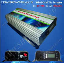 Build In High Wind Protection DC Input 48v 72v 2000w wind grid tie inverter(China)