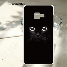 WUXINHCA For Samsung Galaxy A7 2016 A710 A710F A7100 5.5'' Black cat Cases Cell Phone Back hard plastic Cover(China)
