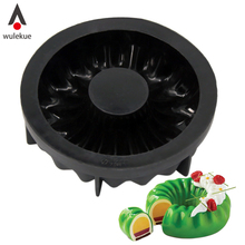 Wulekue 1PCS Black 3D Silicone Mousse Mold For Ice Creams Chocolates Breads Baking Molud Cake Decoration Tool(China)