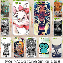AKABEILA Soft TPU Phone Cases For Vodafone Smart E8 VFD510 VFD-510 5.0 inch Covers Painted Cases Back Silicone Cute Animals Bags(China)