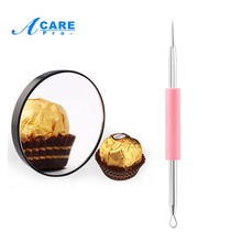 ACARE 1pc Makeup Mirror 10X Magnifying Mirror With Two Suction Cups Cosmetics Tools Round Mirror Ten Times Magnification(China)