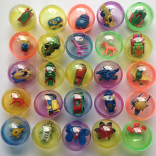 10 Pcs/lot  Children Kids Babies Games  Funny Plastic Toy Ball Animal In Shilly Egg Balls