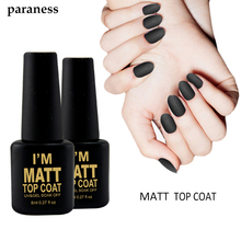Lucky Lacquer Matt Matte Top Coat Nail Gel Polish Nail Art Tips Dull Finish Top Coat Gel Long Lasting By easy clean Nail Art