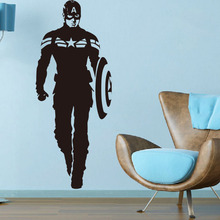 FREE SHIPING Creative DIY wall art home decoration Iron Man Avengers 2 & Captain America Boy bedroom living room wall stickers(China)