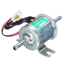 Universal Diesel Petrol Gasoline 12v Eelectric Fuel Pump HEP-02A 8mm Pipe Low Pressure Fuel Bomb Carburetor Motorcycle ATV Boat(China)