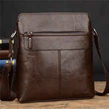leather Men Crossbody Bag iPad Men's Single shoulder bag Business Handbags