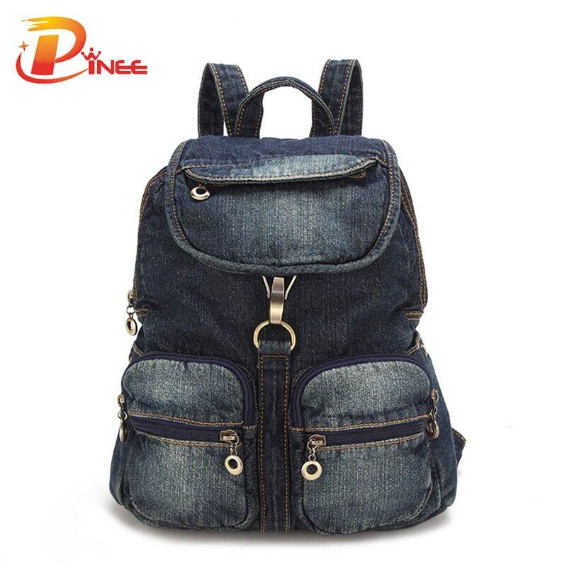 All-match Womens Backpack Denim Daily Backpack Vintage Backpacks Travel Lady Bag 2017 Rucksack Bagpack School<br><br>Aliexpress