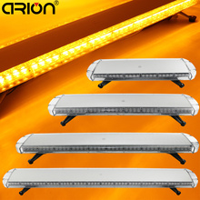 "CIRION 30"" to 72"" Led strobe flash warning light bar Car Trucks Beacons Safety emergency lights Lightbar 12V/24V Amber Yellow(China)"