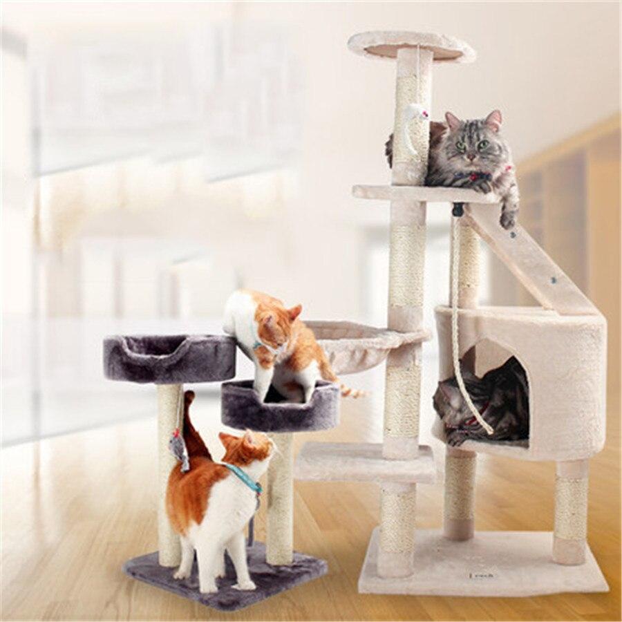 Wood Pets Cat Climbing Frames Toys Interactive Gatos Interesting Pet ...