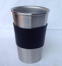 Germany style 18/8 Stainless steel cup 16Oz travel car mug metal mug juice cup milk tea coffee mug beer mug pint cup
