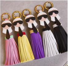 13 colors Brand Genuine Tassels Monster Bag Bugs Car Ornaments Leather Tassels Bag cellphone Charm Key Chain